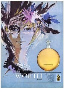 worth je reviens 1965 vintage perfume ad