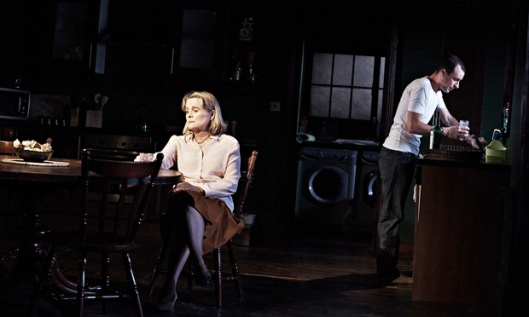 Sinead Cusack and Tom Vaughan-Lawlor in Our Few and Evil Days at Abbey theatre, Dublin