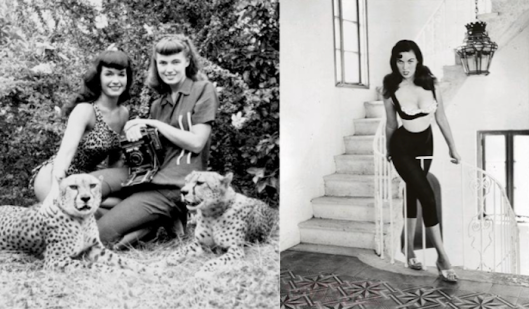 bettie-page-cheetah-bunny-yeager-stairs