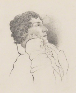by Charles Armitage Brown, pencil, 1819