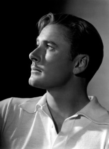 A 1938 George Hurrell portrait of Flynn.