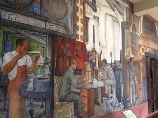 Bay city sojourn linnet moss for Coit tower mural